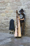 Каталонский музыкант в Барселоне Стоковые Фото