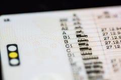 Категории водительского права Стоковое Фото