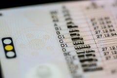 Категории водительского права Стоковая Фотография