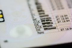 Категории водительского права Стоковые Фотографии RF