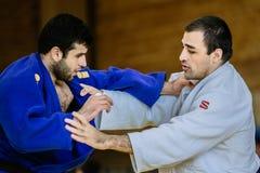 2 категории тяжеловеса дзюдо бойцов Стоковые Фотографии RF