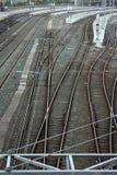катенарные следы железной дороги Стоковые Изображения RF