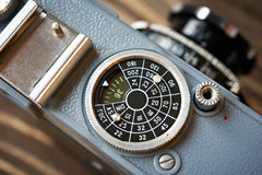 Катите для того чтобы установить чувствительность управления к ретро камере стоковые изображения rf