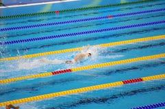 Кати Ledecky в олимпийском бассейне на Rio2016 Стоковое Фото