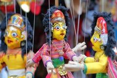 КАТМАНДУ, НЕПАЛ: Непальские марионетки Стоковые Изображения