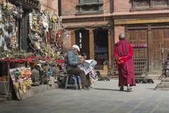 КАТМАНДУ, НЕПАЛ - 10-ОЕ ФЕВРАЛЯ 2015: Stupa в Swayambhunath Стоковая Фотография