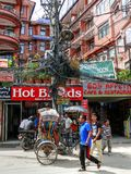 Катманду, улицы Thamel Стоковое Изображение