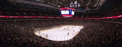 Каток игры хоккея на льде Стоковая Фотография