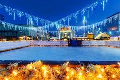 Каток катания на коньках в Катовице Польша европа стоковые фото