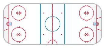 Каток хоккея иллюстрация вектора