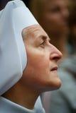 католическая заполированность монахини Стоковые Изображения RF