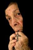 католическая преданная женщина Стоковое Изображение RF