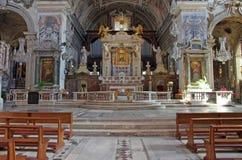католическая церковь детализирует интерьер Стоковые Фотографии RF