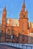 Католическая церковь St Anne в Вильнюсе - католическая церковь, monu Стоковое Изображение