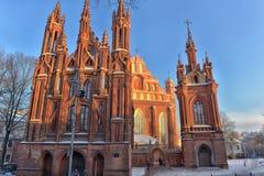 Католическая церковь St Anne в Вильнюсе - католическая церковь, monu Стоковое фото RF