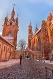 Католическая церковь St Anne в Вильнюсе - католическая церковь, monu Стоковая Фотография