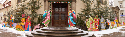 католический входной сигнал церков рождества Стоковые Изображения