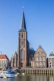 Католическая церковь в историческом городе Harlingen Стоковые Изображения RF