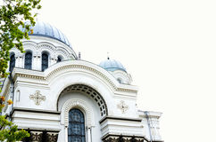 Католическая церковь в Литве, фронте здания Стоковые Фото