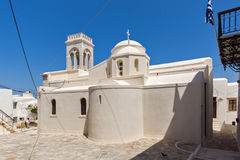 Католическая церковь в острове Naxos, Кикладах Стоковая Фотография