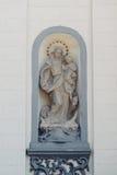 Католическая церковь изображения греческая в маленьком городе Стоковые Изображения