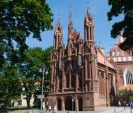 Католическая церковь St Anne и церков Bernardine vilnius Стоковое Изображение