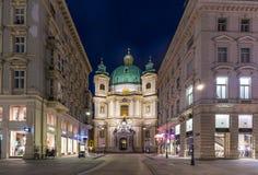 Католическая церковь St Peter ( Katholische Kirche St Peter ) , Vien Стоковая Фотография