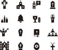 Католический комплект значка Стоковое фото RF