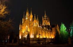 Католический собор в Москве Стоковая Фотография