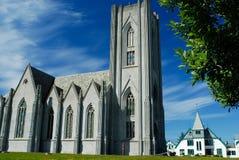 Католический собор Reykjavik, Исландии Стоковое Изображение