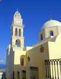Католический собор Santorini стоковое изображение rf