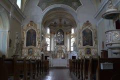 Католическое Chirch, внутреннее изображение Стоковое Изображение