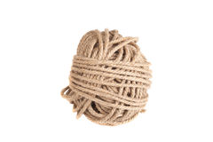Катушка веревочки изолированная на белой предпосылке Стоковое Фото
