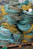 Катушки веревочки на причале Стоковая Фотография RF