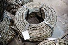 Катушки стального кабеля Стоковое Изображение
