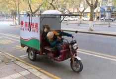 3-катят тележка срочной поставки guotong, саман rgb мотоцикла Стоковая Фотография