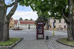 Каунас, Литва, Европа, площадь ратуши Стоковое фото RF