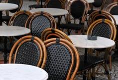 кафетерий предводительствует таблицы Стоковое фото RF