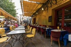 Кафе ван Гог на Месте du Форуме в Arles Франция Провансаль стоковое изображение rf