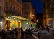 Кафе ван Гог, Arles, Франция стоковая фотография rf