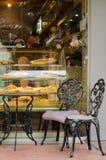 Кафе витрин стоковая фотография rf