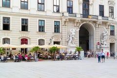 Кафе в дворце Hofburg двора в вене, Австрии Стоковое Фото