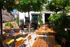 Кафе в старом городке Марбелье Стоковые Фотографии RF