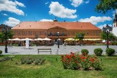 Кафе дома города и города в Sombor в центре Стоковые Изображения