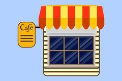 Кафе Значок, шаблон вектор Стоковая Фотография