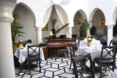 Кафе Касабланки Рик Стоковая Фотография