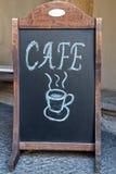 Кафе/кофе - надпись на классн классном Стоковое фото RF
