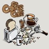 Кафе кофе Стоковое Фото