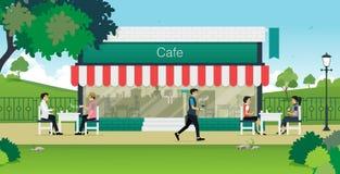 Кафе лета Стоковое Изображение
