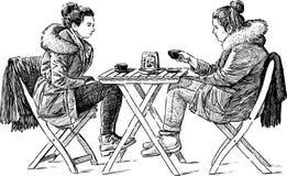 кафе напольное иллюстрация вектора